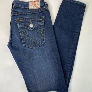 TRUE RELIGION JEANS JULIE SKINNY STRETCH SIZE 25